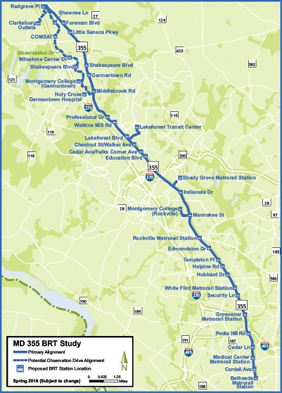 Rapid Transit System Project Contact Montgomery County Md