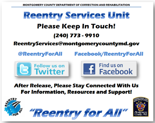 Reentry Services Contact Information