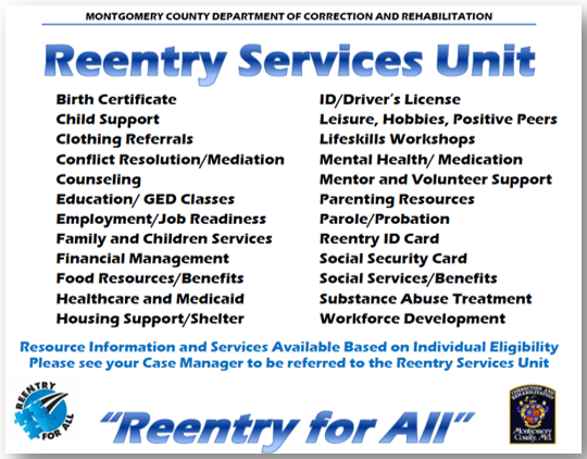 Reentry Services Programs
