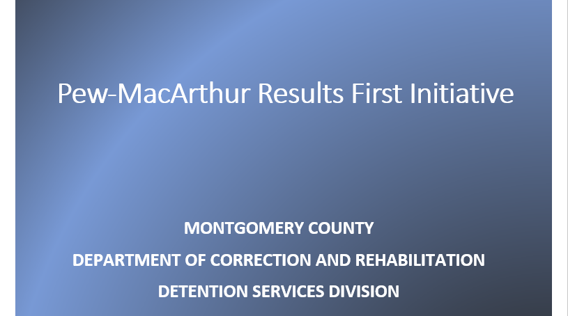 WELCOME TO THE DEPARTMENT OF CORRECTION AND REHABILITATION
