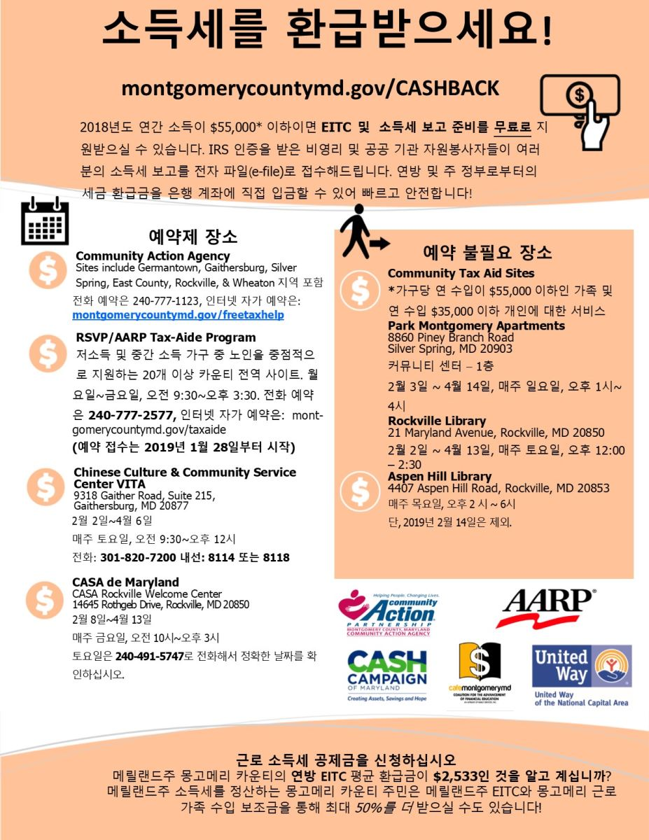 Korean VITA Partnership Flier