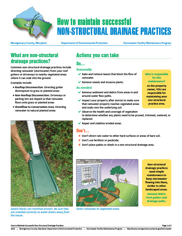 Image of the Non-Structural maintenance fact sheet.