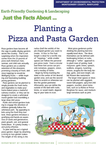 Planting a Pizza and Pasta Garden