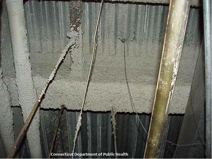 Image of Asbestos on pipes