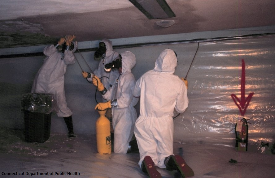 Image of workers clearing asbestos