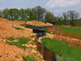 Image of a silt fence protection.