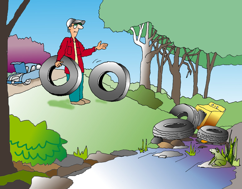 Image of Illegal Tire Dumping