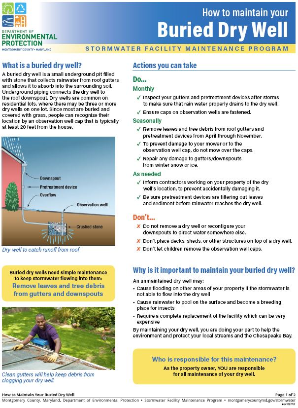 Download the How to Maintain Your Buried Dry Well guide