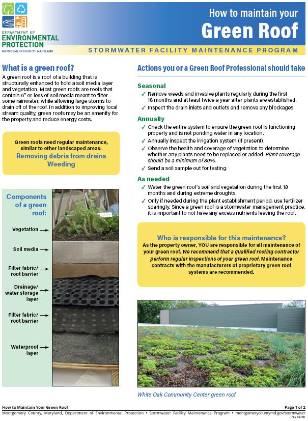 Download the How to Maintain Your Green Roof Guide