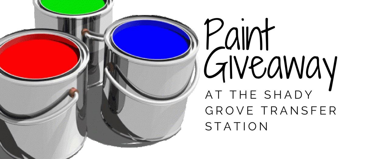 Paint Giveaway at the Transfer Station