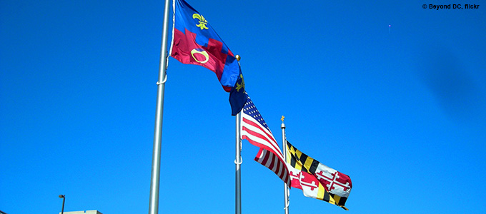 Montgomery County and Maryland Flags by Beyond DC