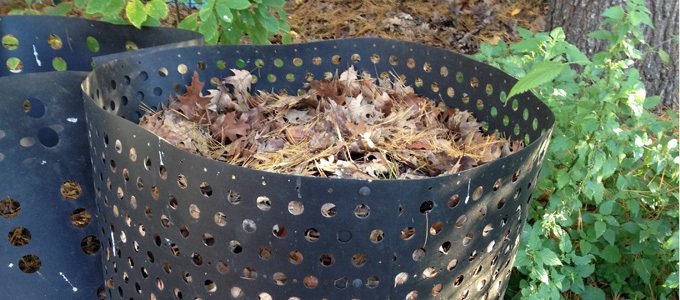 Image of a leaf compost bin