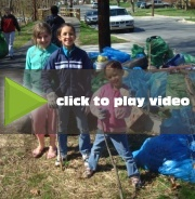 Automatic download. Not viewable in YouTube or Flash. Video of three people picking up litter.