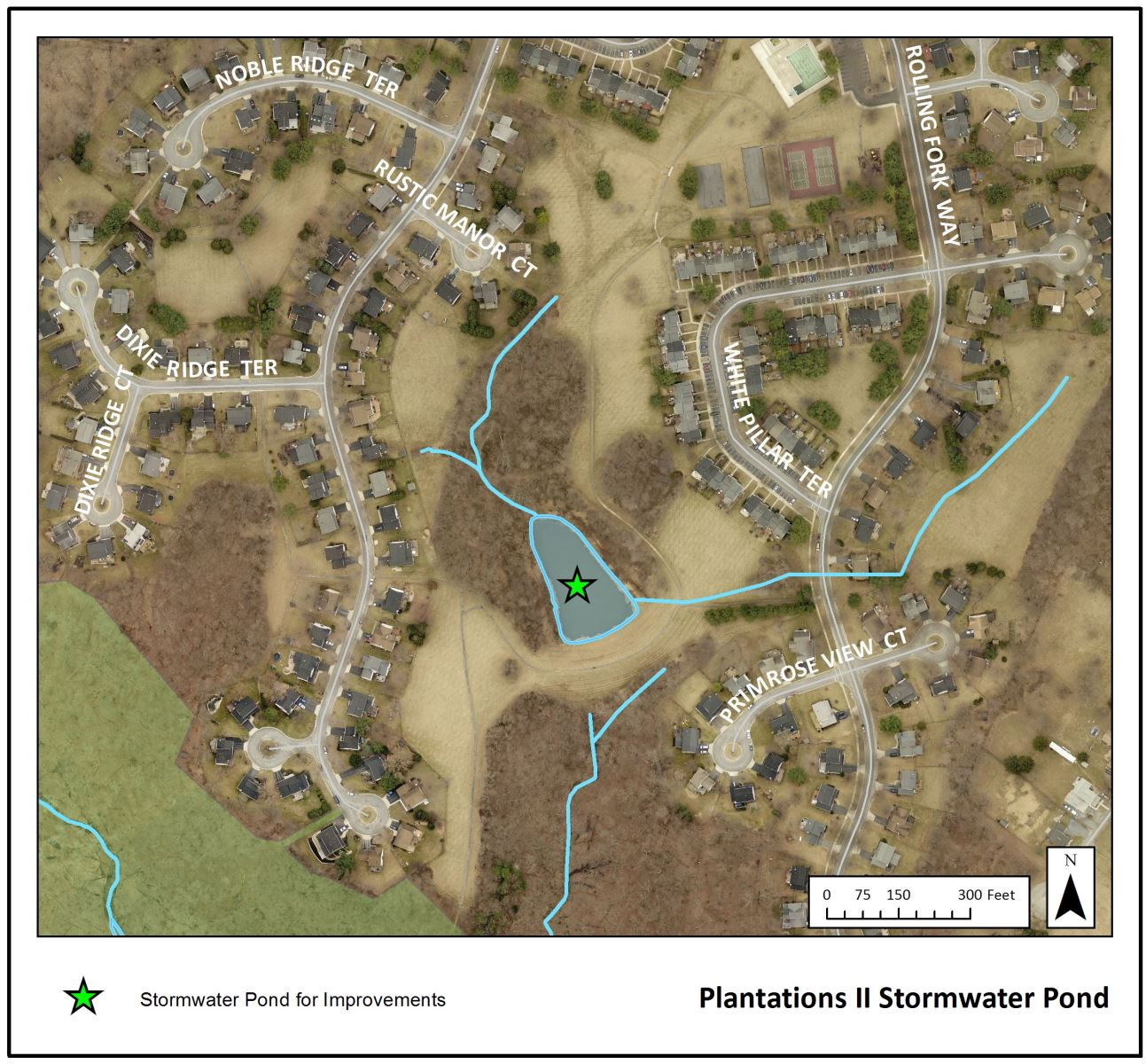 Plantations II Stormwater Pond Map