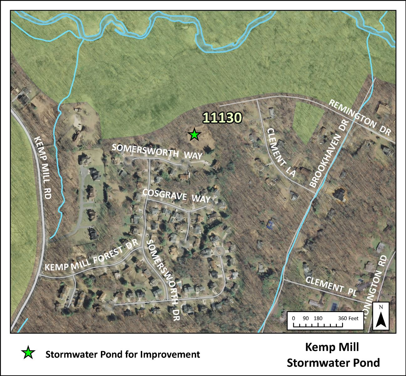 Image of Kemp Mill Stormwater Pond