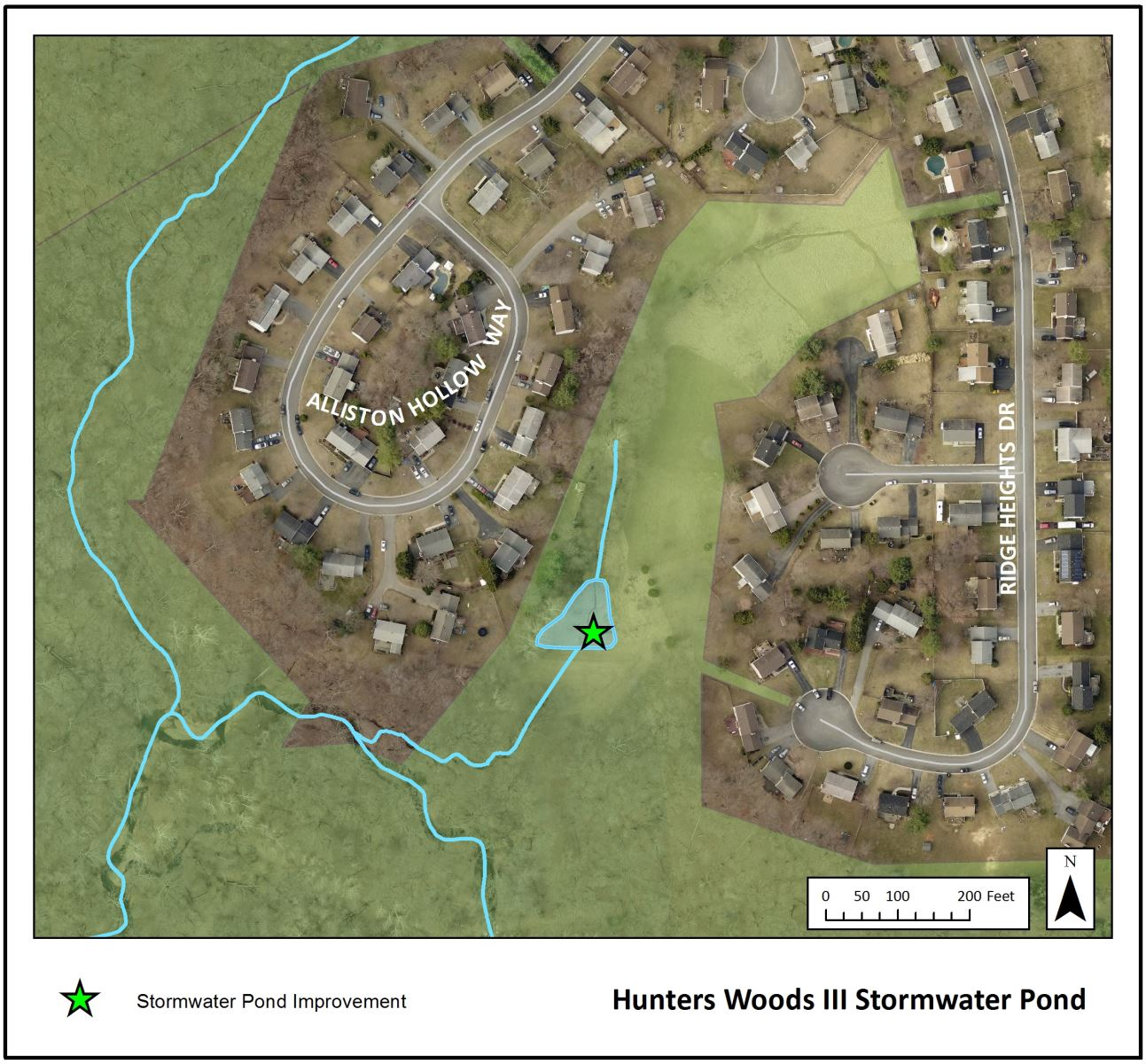 Ponds department of environmental protection montgomery county md - Hunters Woods Iii Stormwater Pond Map