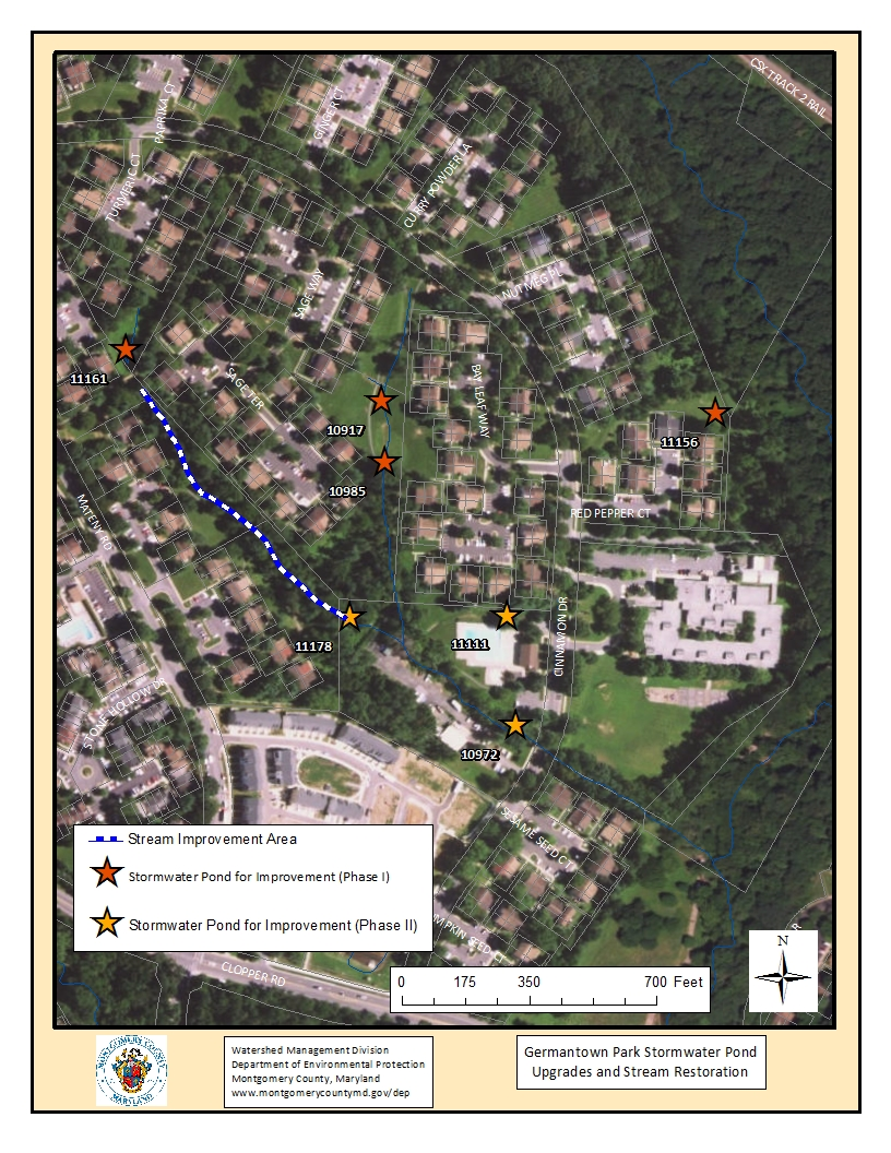 Map of Germantown Park Stormwater Management Project
