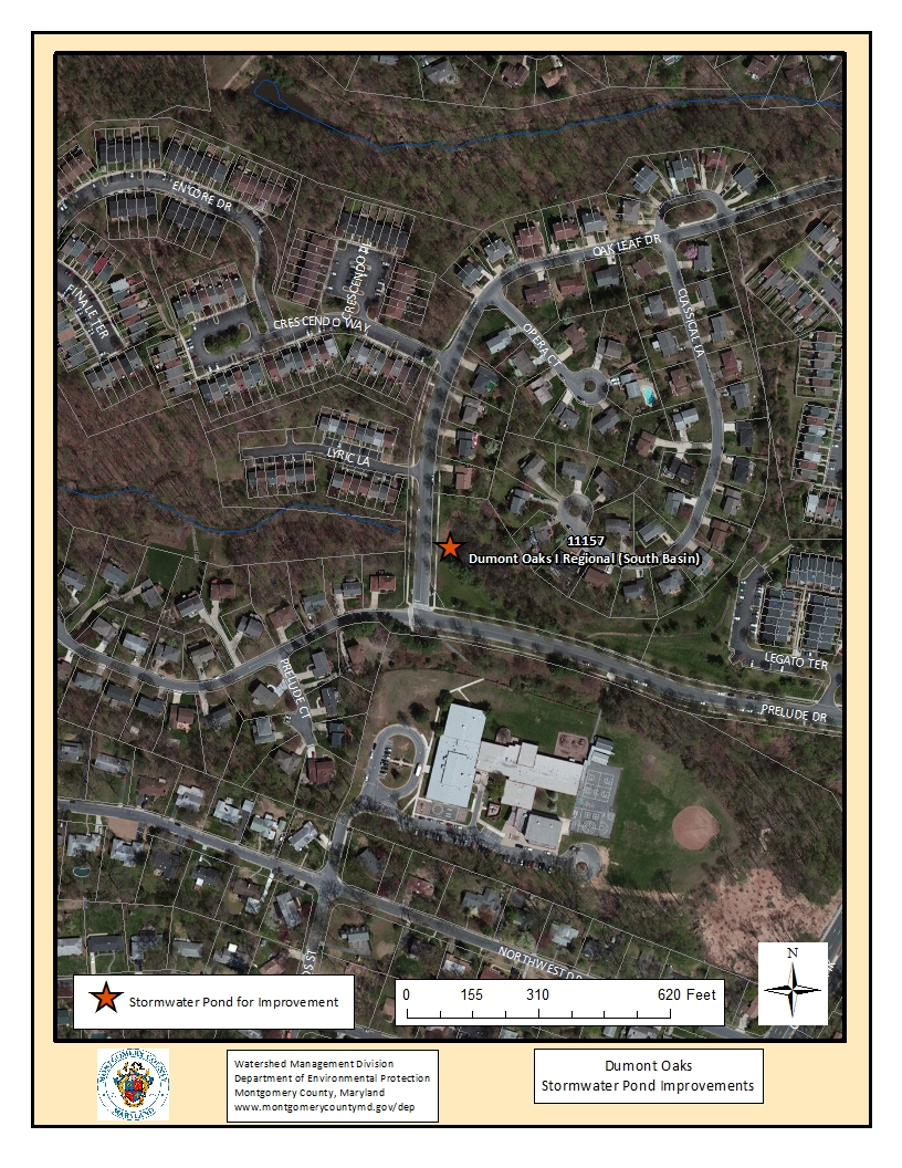 Dumont Oaks Stormwater Pond Map