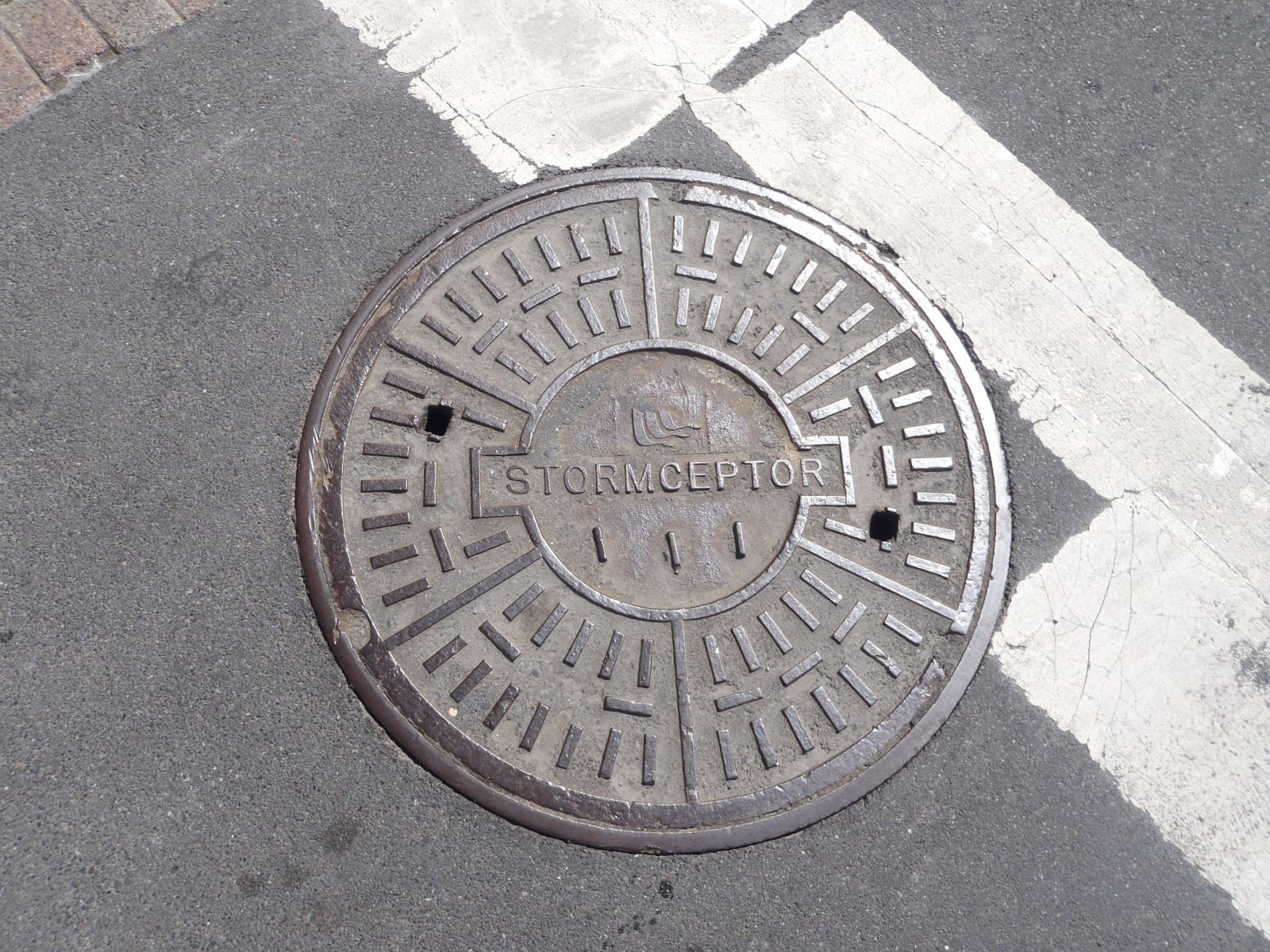 Image of a hydrodynamic separator manhole cover.