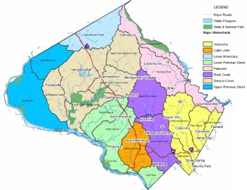 Image of the Montgomery County watershed map.