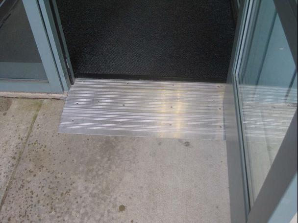 Accessible Threshold with a Ramp