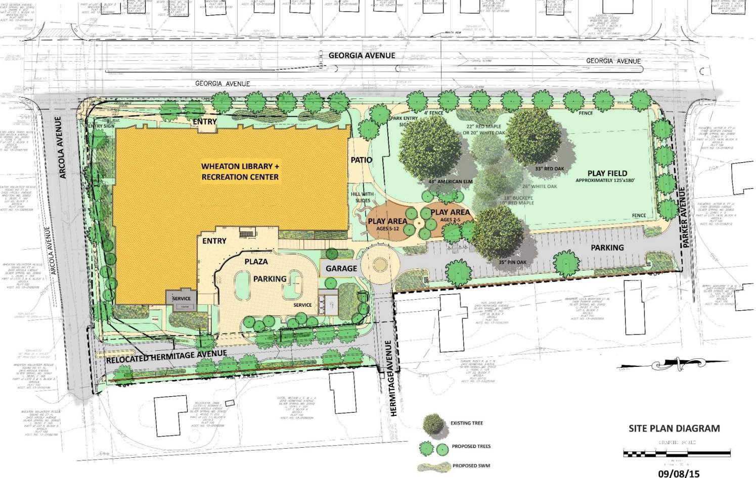 building site plan wheaton library and community recreation center 10844