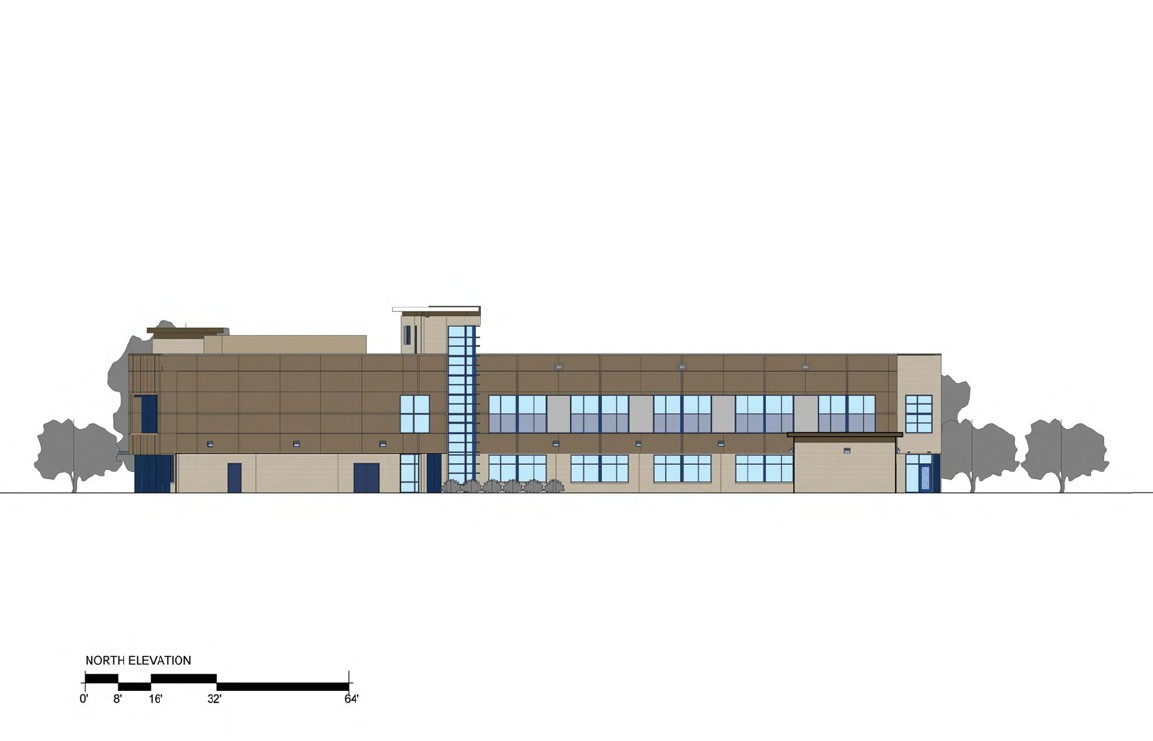 3rd District Police Station - North Elevation