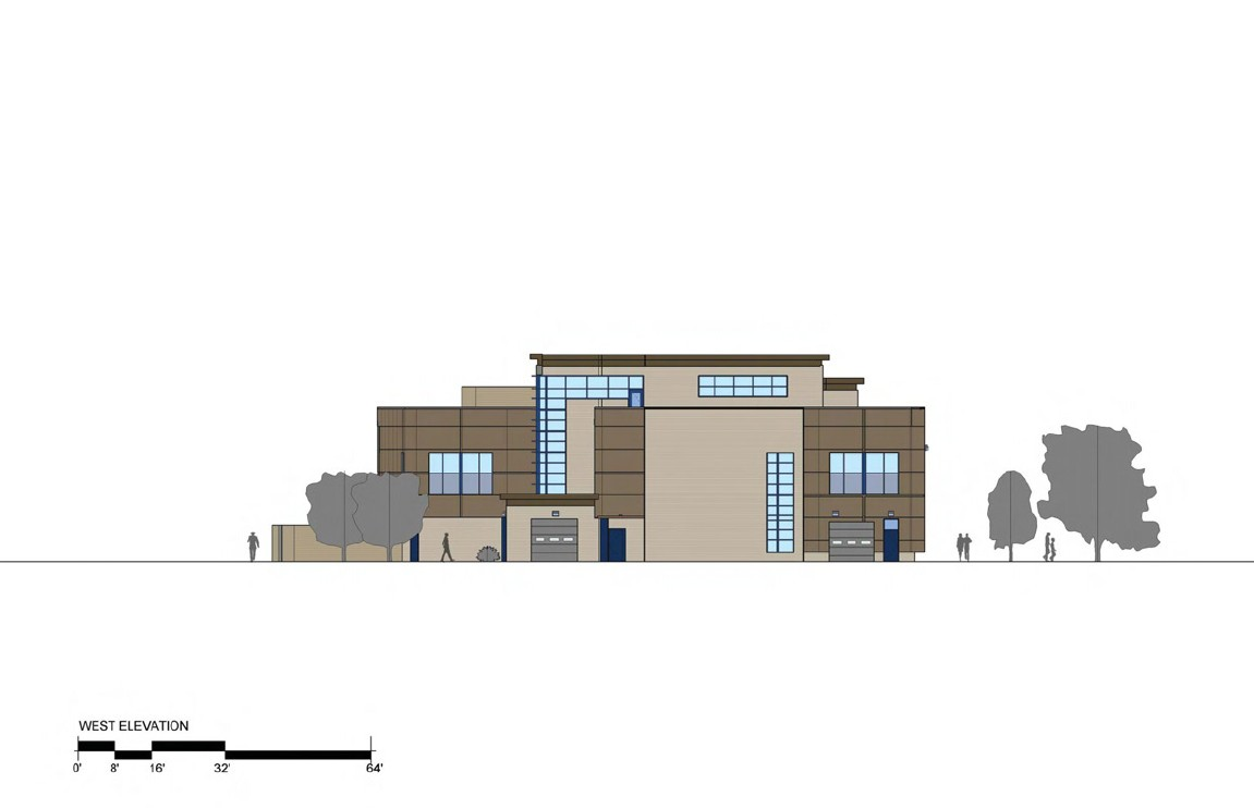 3rd District Police Station - West Elevation