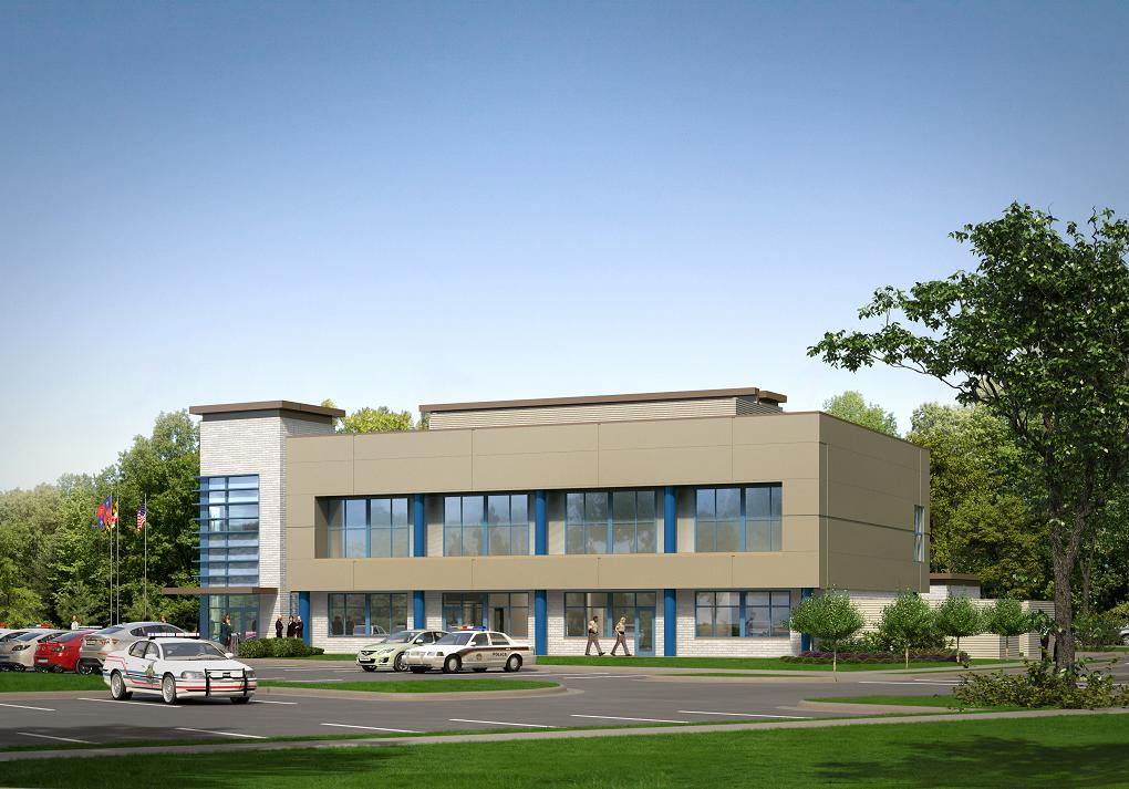 3rd District Police Station - East Rendering