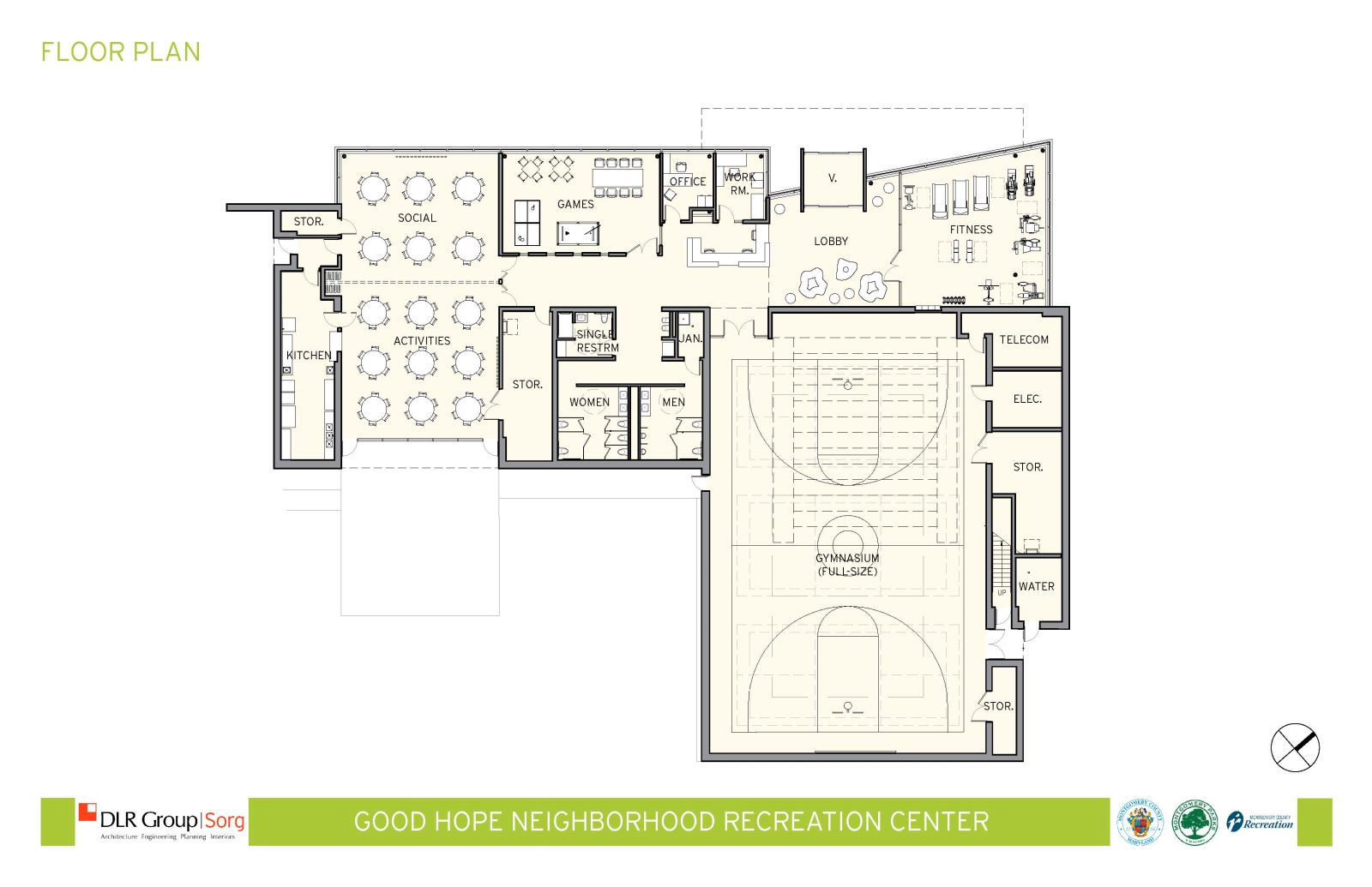 720918 on Recreation Center Building Floor Plan