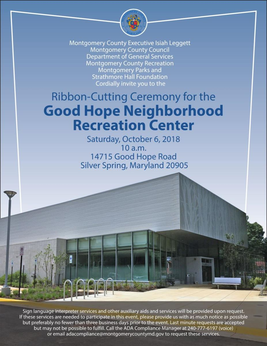Ribbon-Cutting Good Hope Community Center Flyer