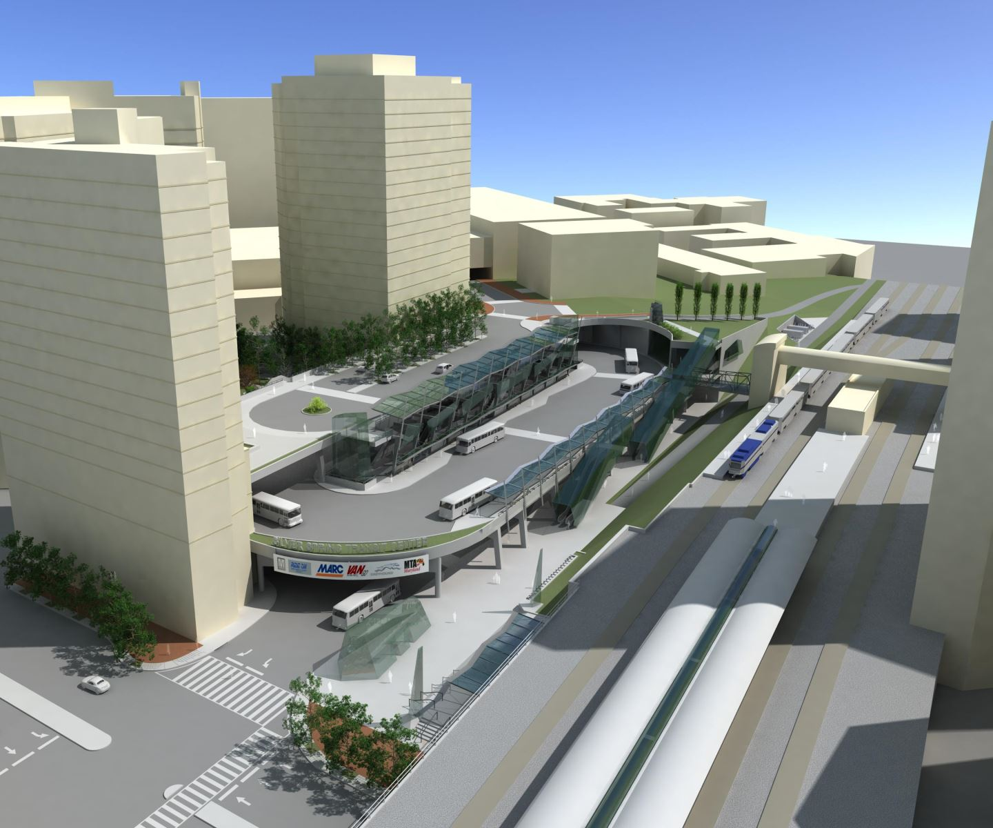Picture of the Paul S. Sarbanes Silver Spring Transit Center