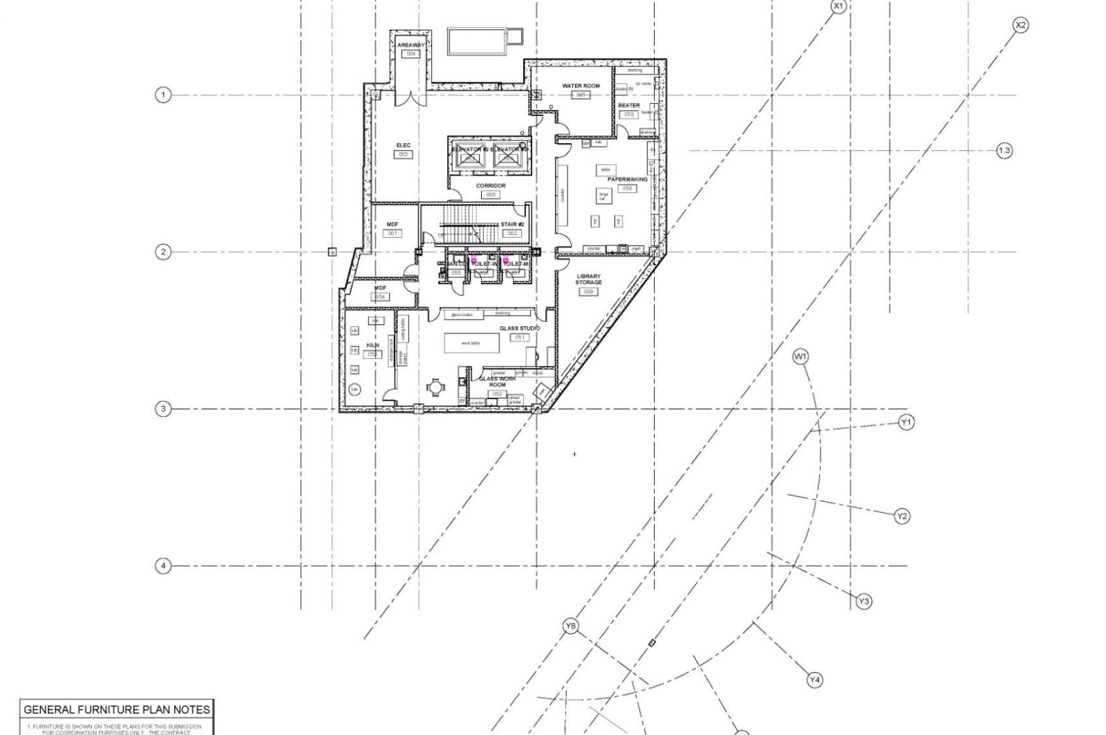 Silver Spring Library - Basement Floor Plan