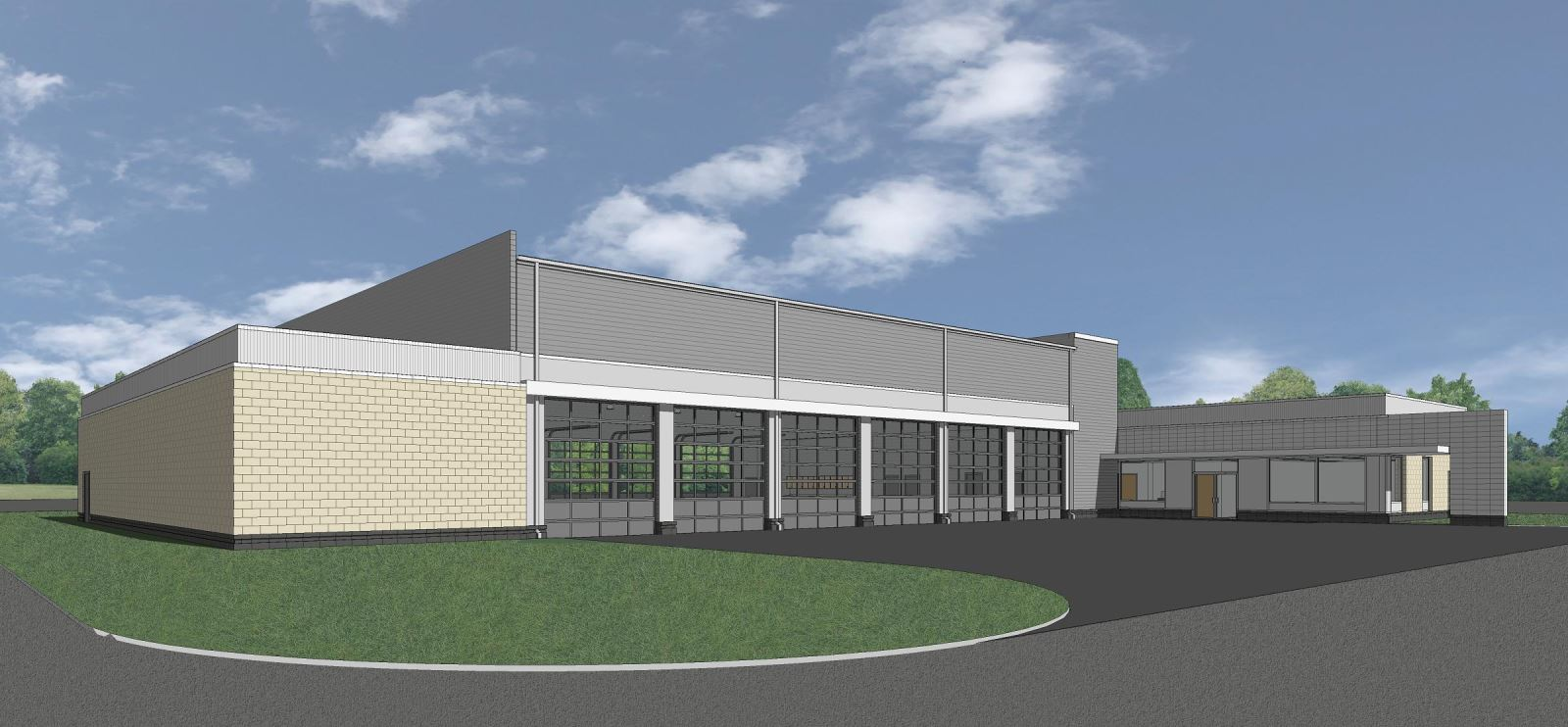 MASP & PSTA Project 3: Public Safety Training Academy - Exterior View Of Apparatus Building