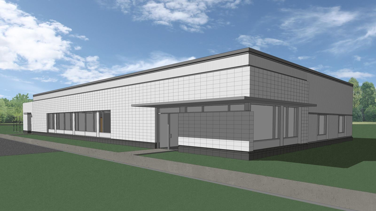 MASP & PSTA Project 3: Public Safety Training Academy - Exterior View Of The Canine Training Building