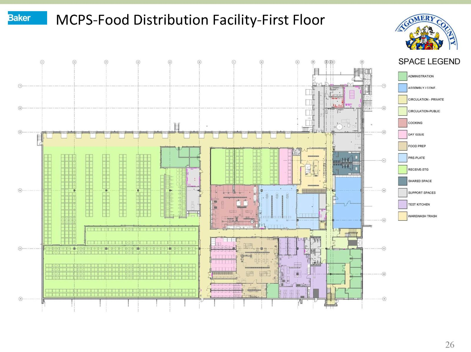MASP & PSTA Project 2: MCPS Food Distribution Relocation - Food Distribution Facility- 1st Floor