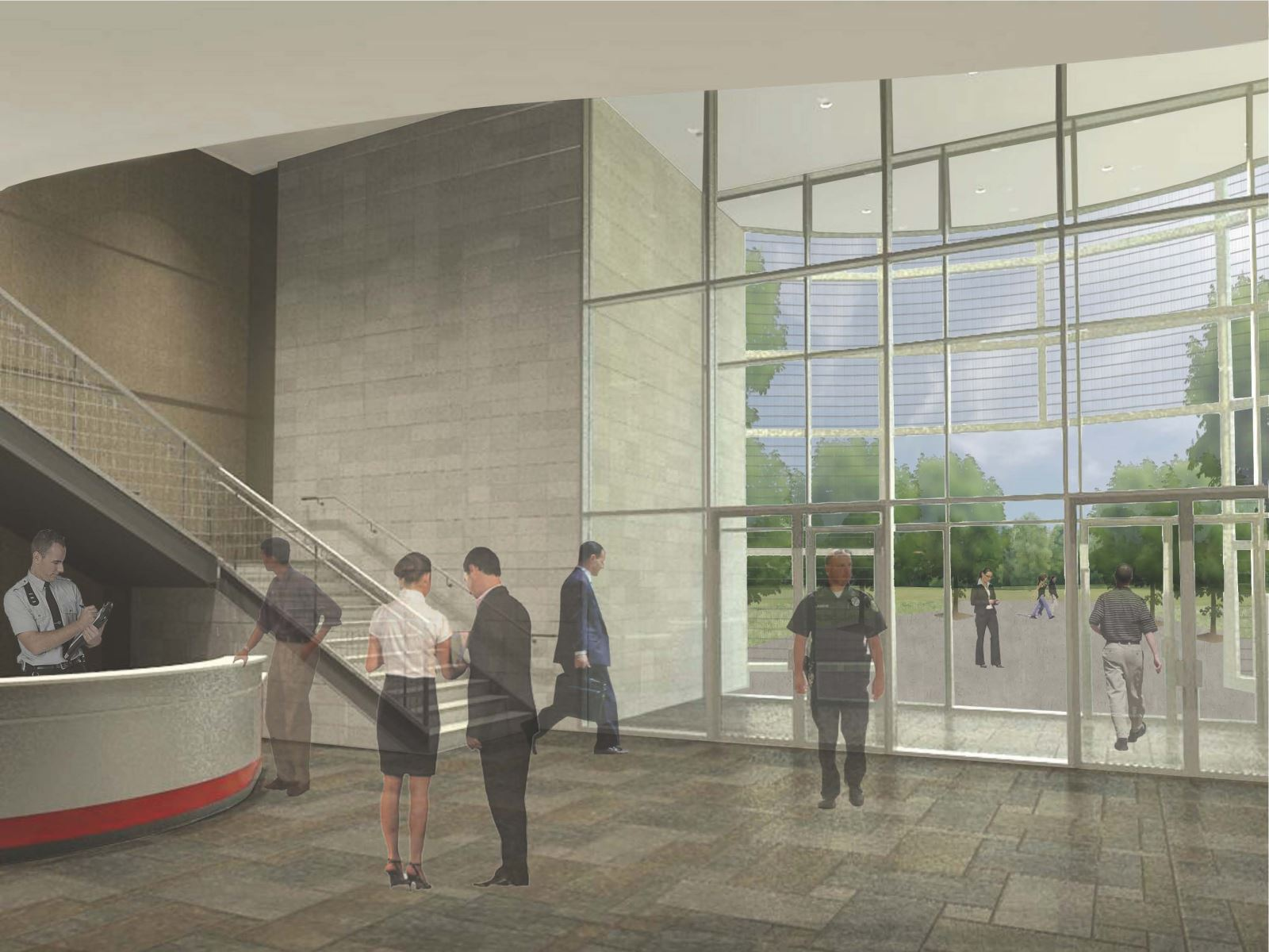 MASP & PSTA Project 3: Public Safety Training Academy - PSTA View of the Entry Lobby