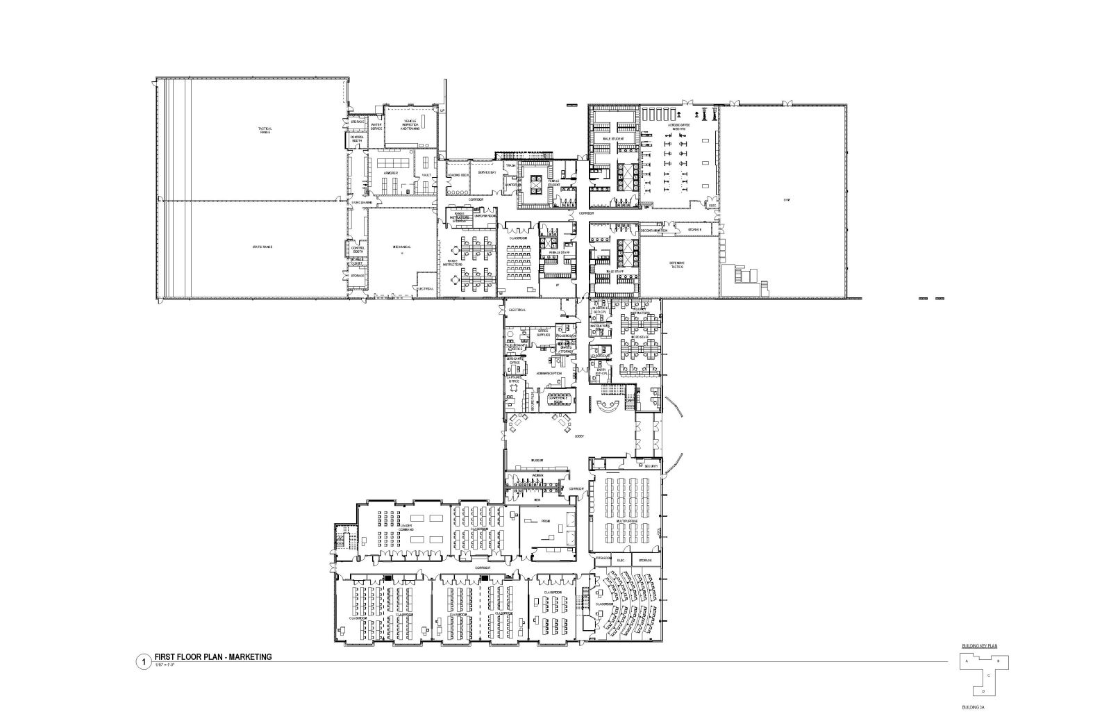 MASP & PSTA Project 3: Public Safety Training Academy - PSTA First Floor Plan