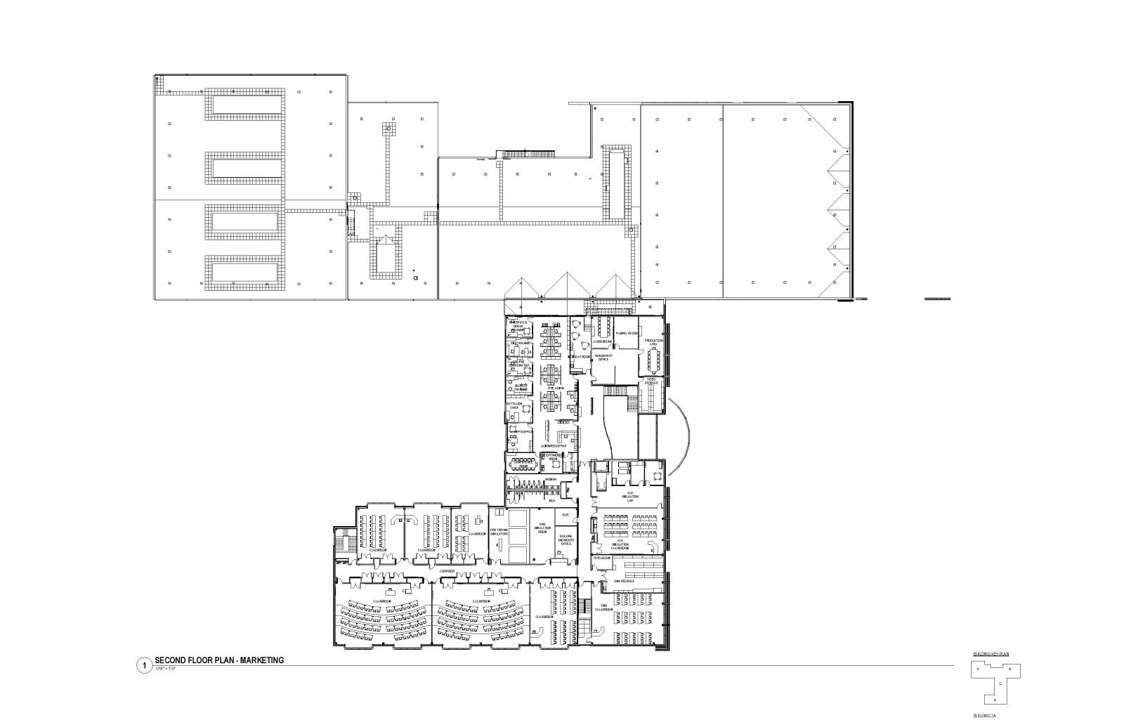 MASP & PSTA Project 3: Public Safety Training Academy - PSTA Second Floor Plan