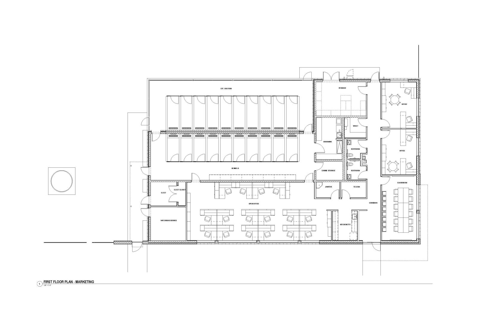 MASP & PSTA Project 3: Public Safety Training Academy - PSTA Canine Training Building Floor Plan