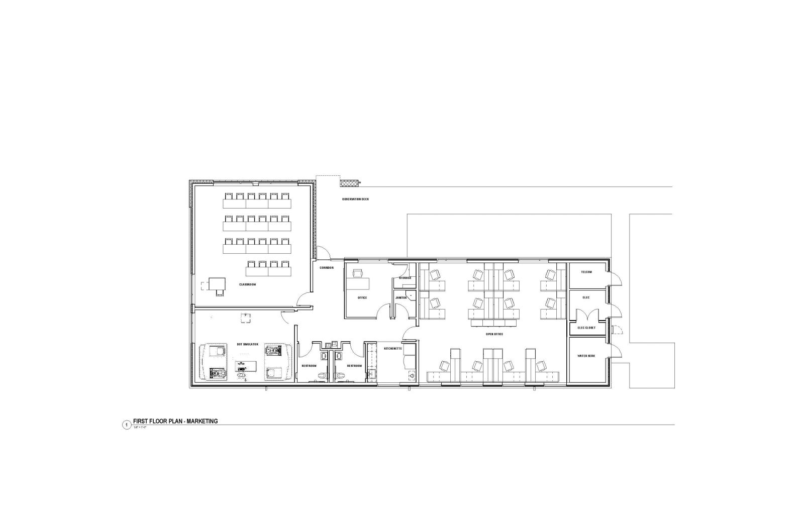 MASP & PSTA Project 3: Public Safety Training Academy - PSTA Skills Pad Building Floor Plan