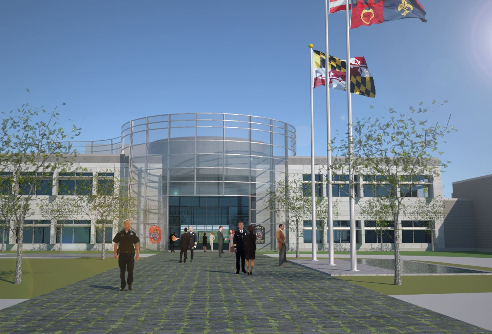 MASP & PSTA Project 3: Public Safety Training Academy - PSTA Building Enterance
