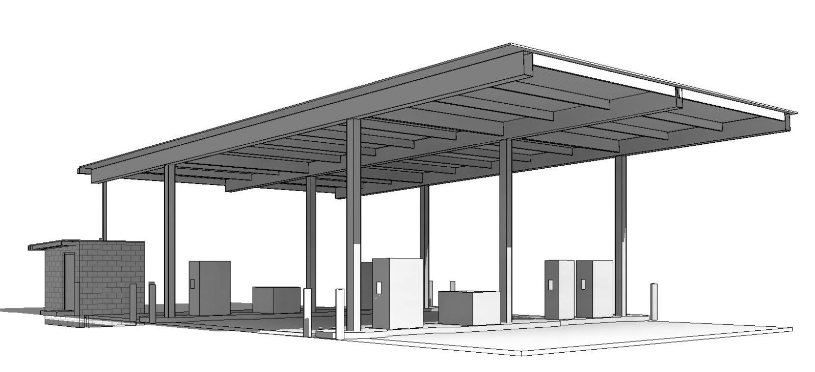 MASP & PSTA Project 3: Public Safety Training Academy - PSTA 3R Exterior View of Fuel Facility
