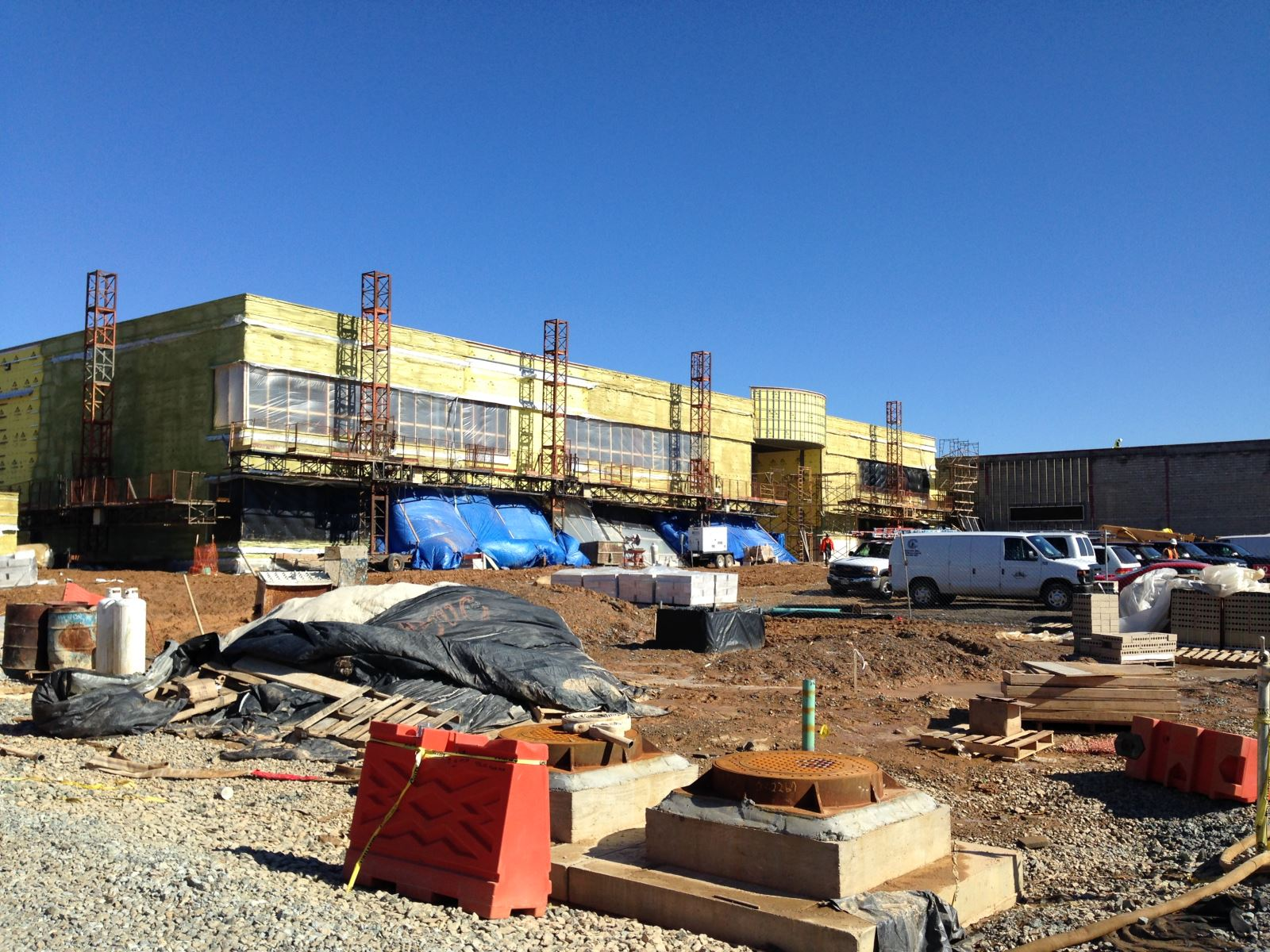 MASP & PSTA Project 3: Public Safety Training Academy - PSTA 3B Exterior View of Garage