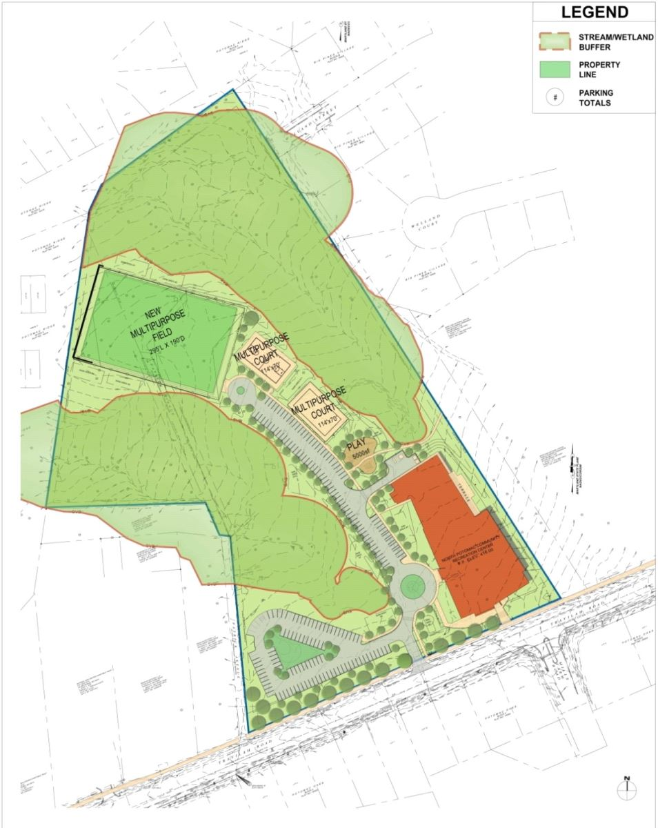 North Potomac Community Recreation Center - Site Map