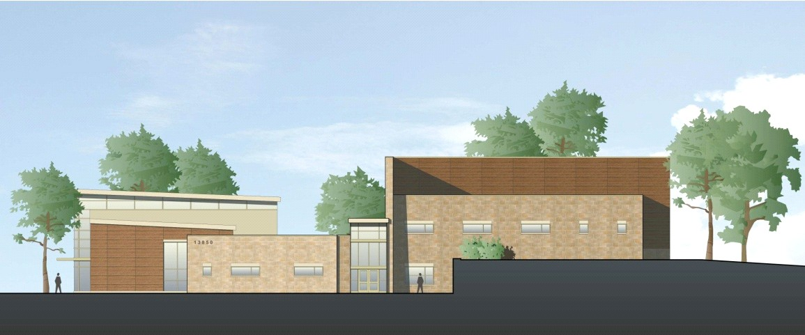 North Potomac Community Recreation Center - Travilah Road Elevation