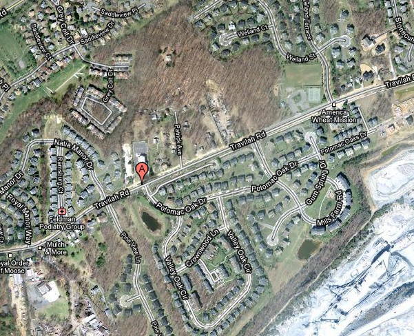 North Potomac Community Recreation Center - Vicinity Map