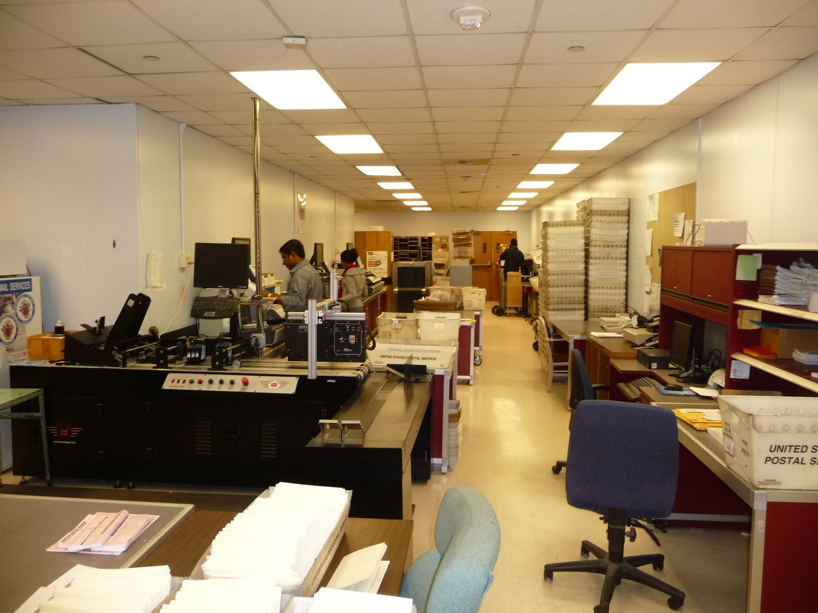 Mail room working image
