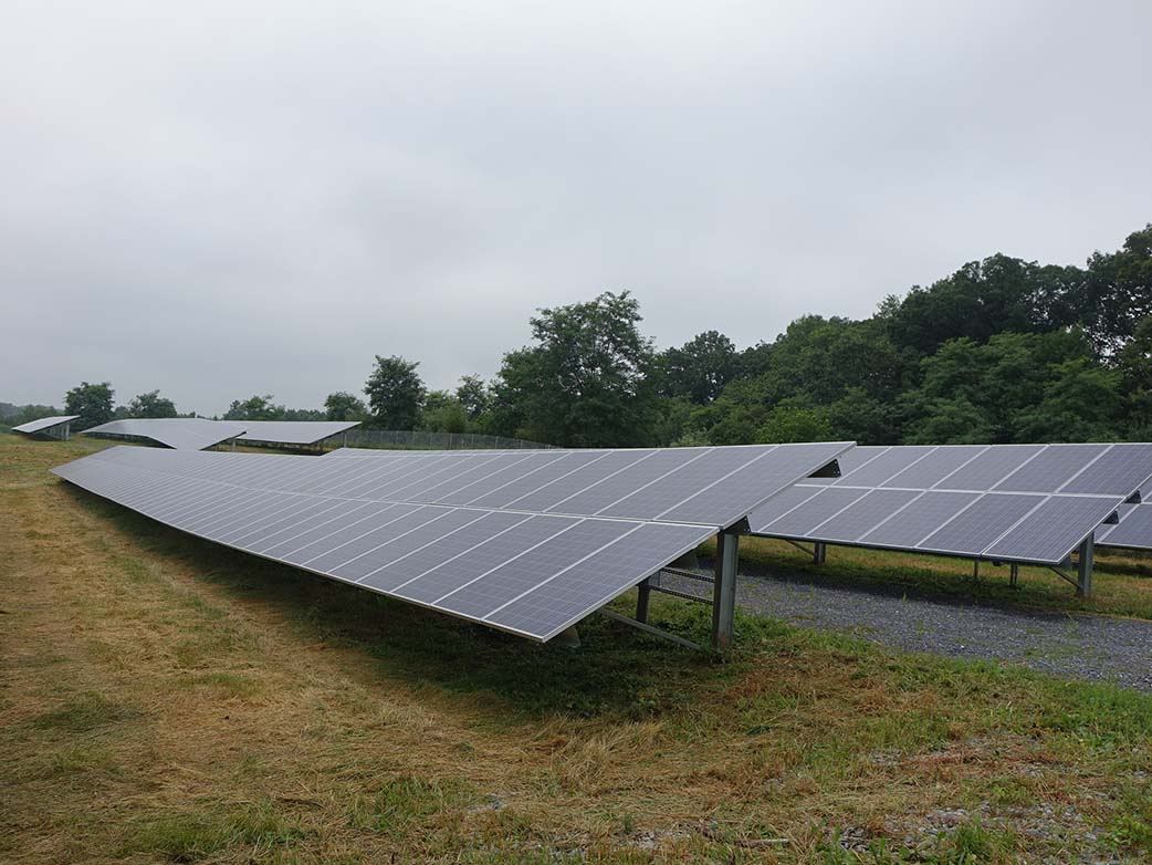 Montgomery County Correctional Facility Ground Solar Panels