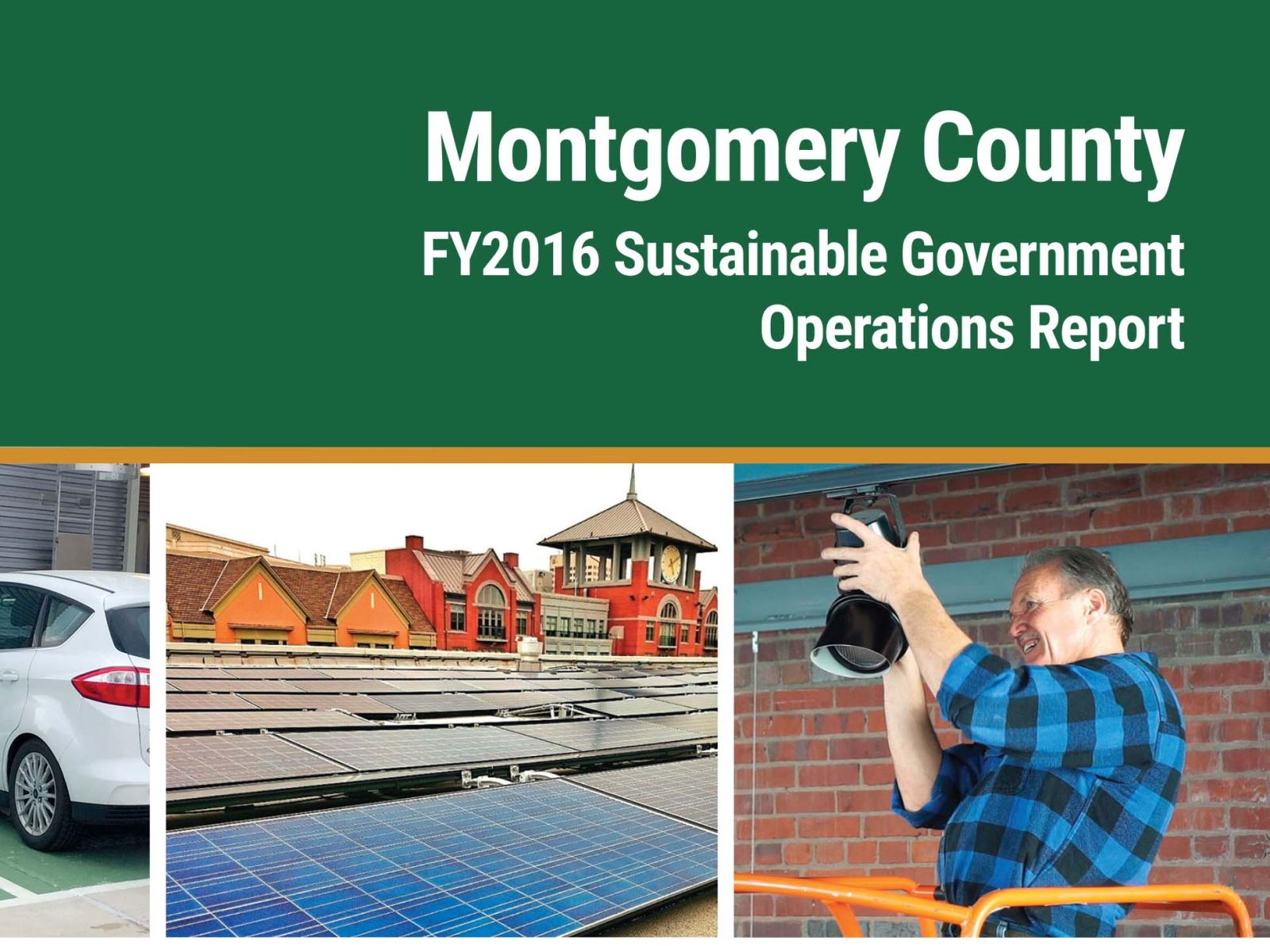 FY2016 Sustainable Government Operations Report Cover